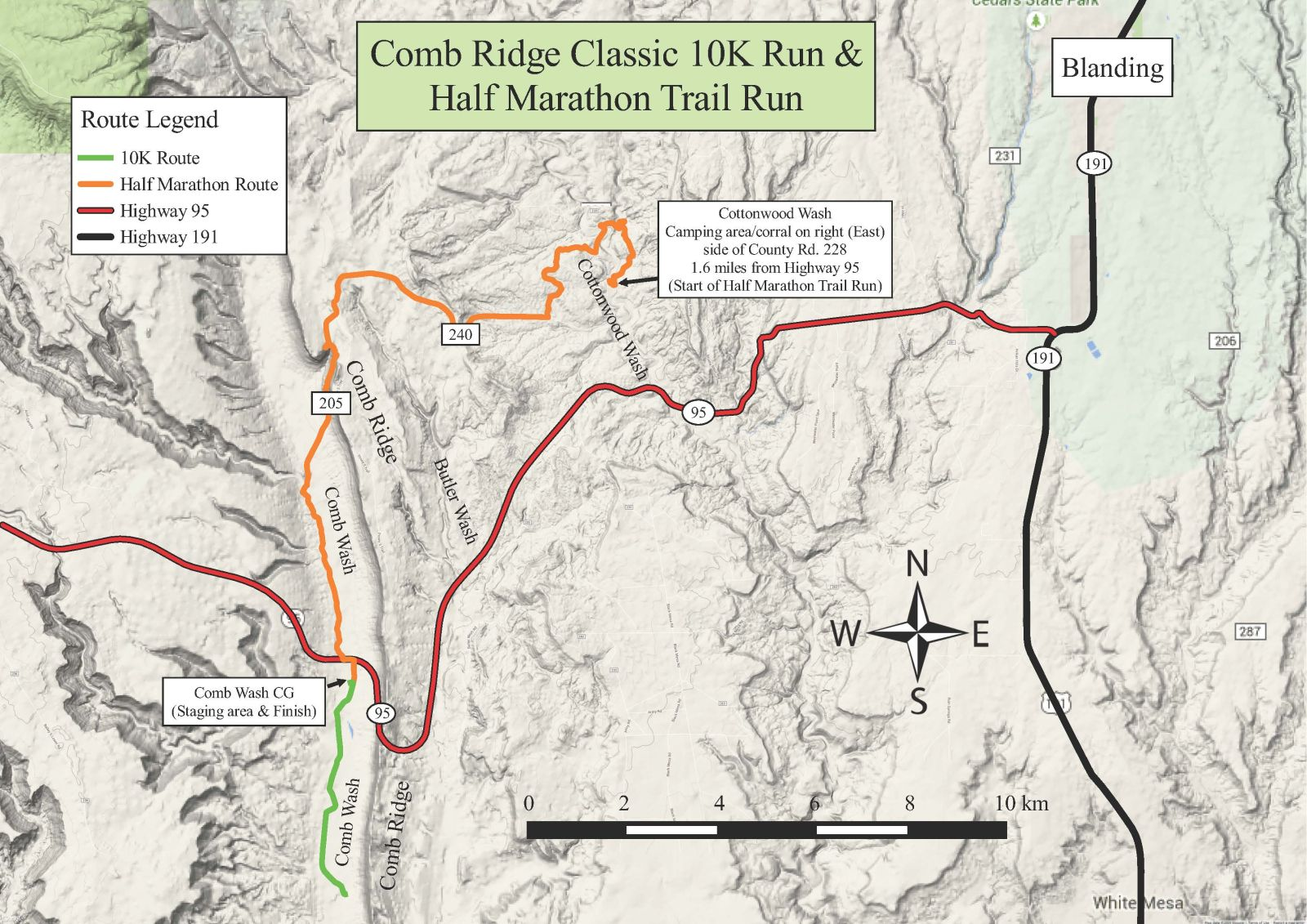 Comb Ridge Classic – Half Marathon and 10K Trail Run