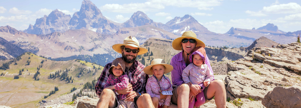 our family in the grand tetons
