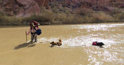 Crossing the Dirty Devil River, Utah