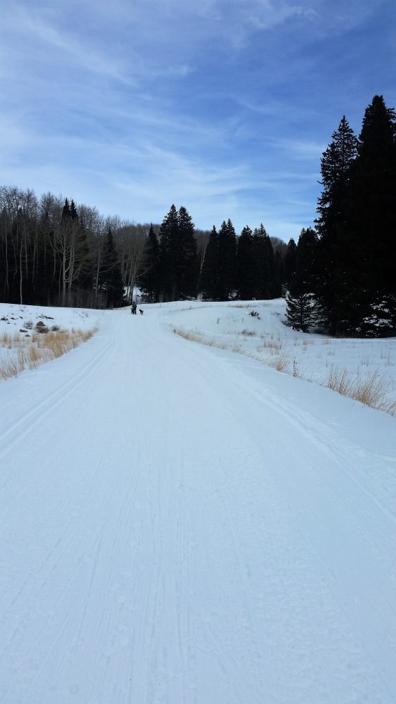 cross country skiing la sal mountains