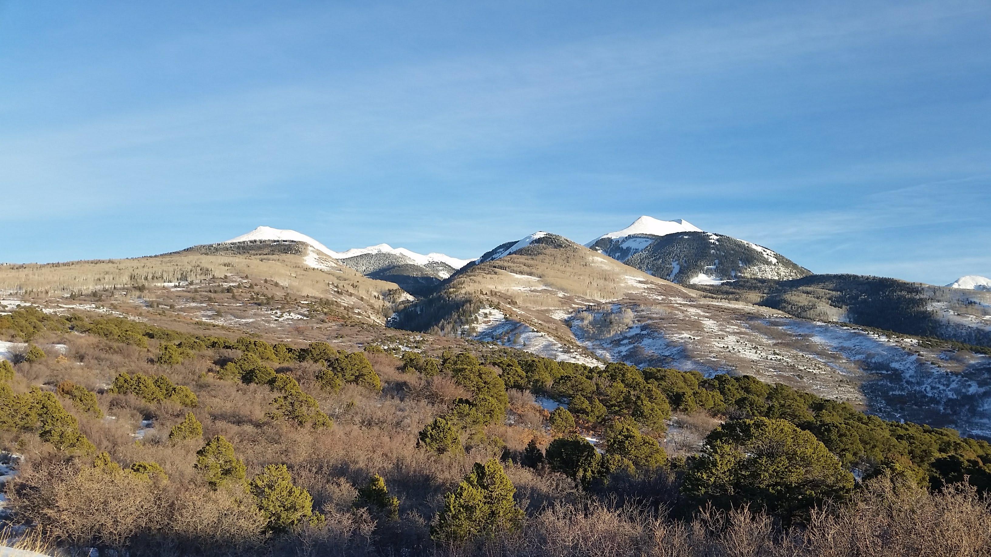 La Sal Mountain Snow Report 2-17-18