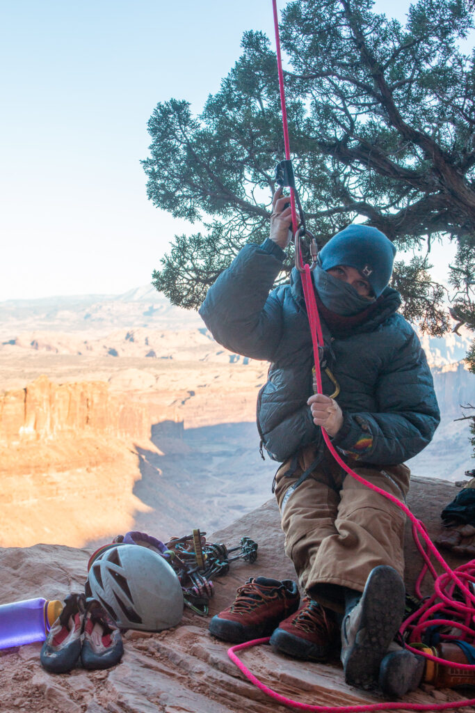 Kaya Lindsay Mary Eden Cold Climbing
