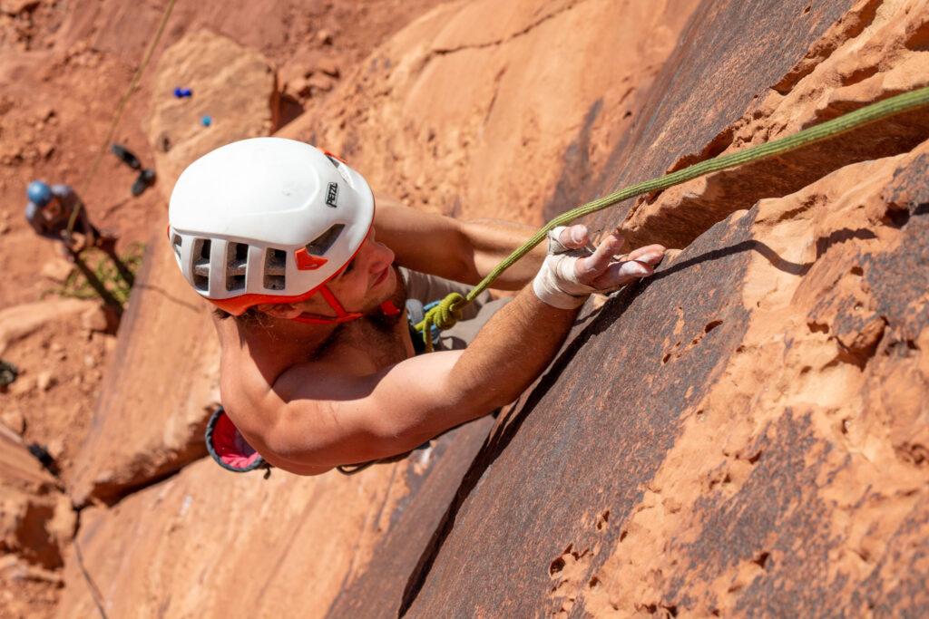 Kaya Lindsay Crack Climbing Moab