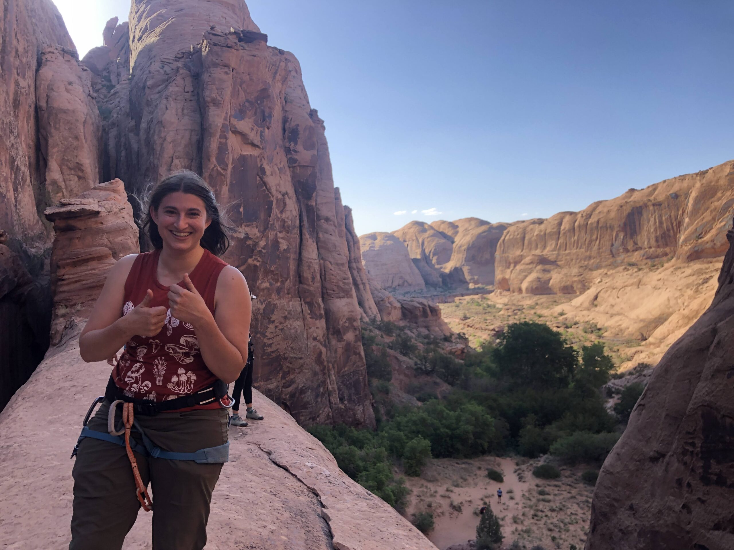 Hiking and Rappelling the Medieval Chamber